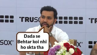Rohit Sharma's Reacts on Sourav Ganguly Becoming BCCI President at Trusox Event in New Delhi