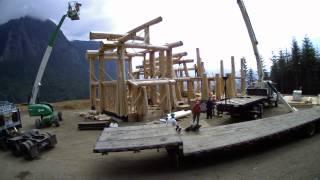 Log Home Setup - 2013