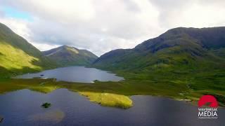 Aerial of Irish Landscape - Mayo
