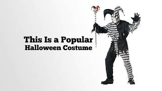 California Costumes Men's Adult  Black Evil Jester Costume