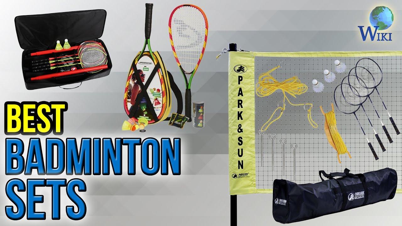 Mini Badminton Set 5 teilig Federball Spiel Schläger Outdoor Freizeit Best Sport