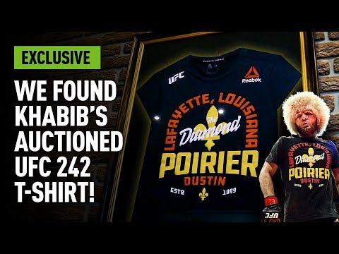 Khabib's Auctioned UFC 242 T-shirt Found!