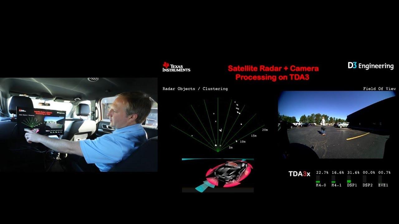 On-vehicle radar and sensor fusion demos using TI mmWave technology