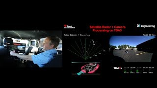 On-vehicle radar and sensor fusion demos using TI mmWave technology