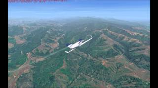 FSX. Blue Sky Scenery, California short flight