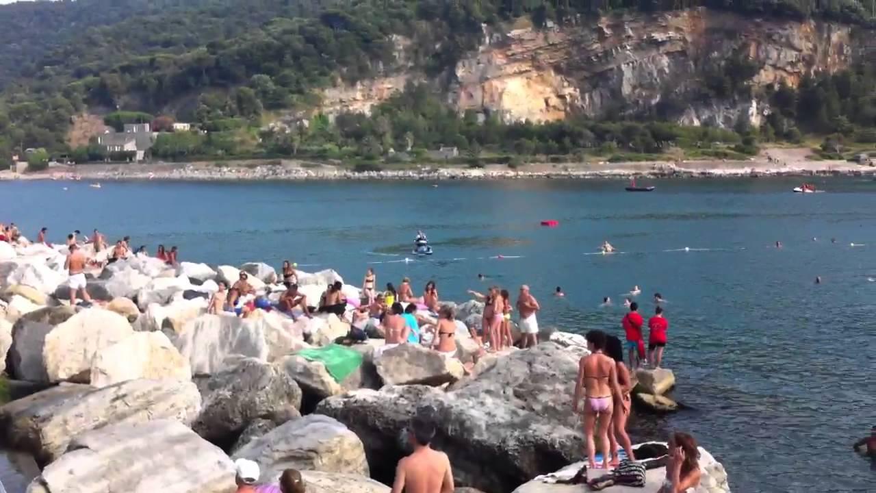 Porto Venere Natural Swimming Pool 2013 Youtube