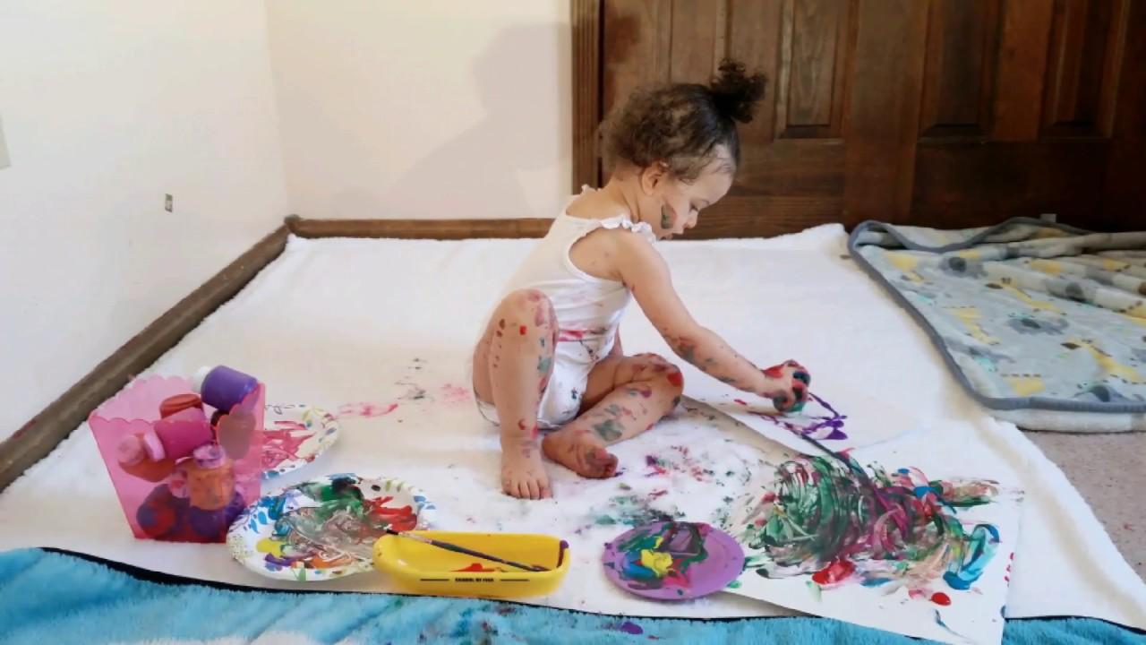 Actividad Para Ninos De 1 A 2 Anos Con Pintura Youtube