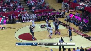UConn Women's Basketball vs Cincinnati Highlights