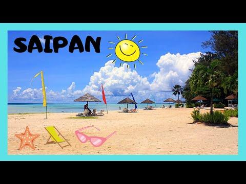 Island of SAIPAN: Beautiful sand and views at MICRO BEACH (NORTHERN MARIANAS, PACIFIC OCEAN)