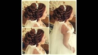 Прически.свадебные прически.красивые прически(Bridal updo. Romantic hairstyle for medium hair. Подписывайтесь на канал, чтобы не пропустить новые видео ;) https://www.youtube.com/user/sniganka?su., 2015-07-20T10:23:58.000Z)