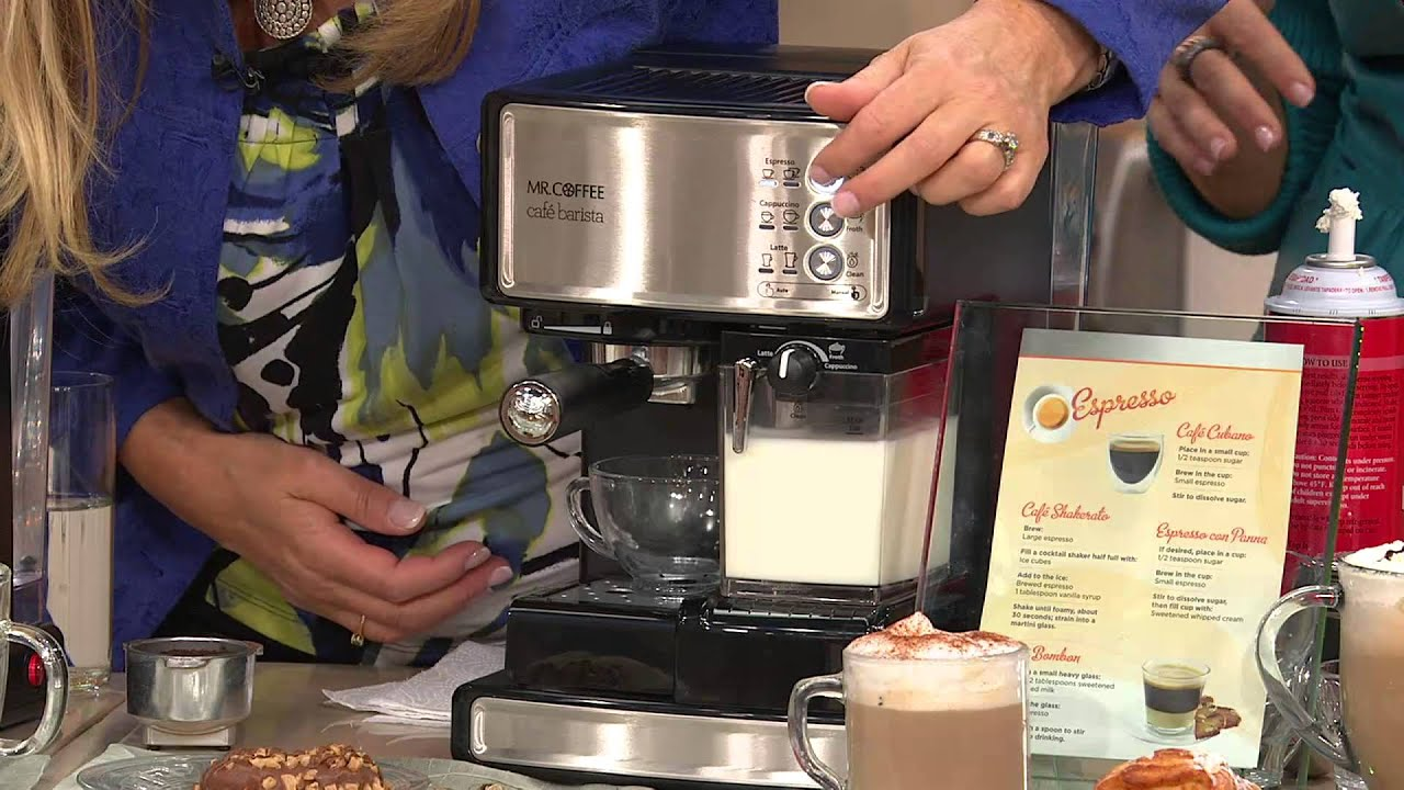 Mr Coffee Coffee Maker Not Working : Mr. Coffee Cafe Barista Espresso, Latte & Cappuccino Maker w/Grinder with Albany Irvin - YouTube