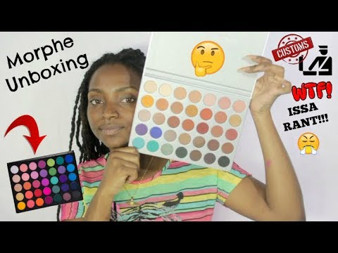 Morphe JACLYN HILL + 35B PALETTE Unboxing!  | Shipping to JAMAICA RANT!!!