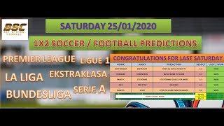 SATURDAY 1X2 PREDICTIONS - SOCCER TIPS - FOOTBALL BETTING PREDICTIONS - TODAY'S TIPS