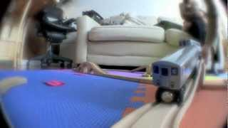 Kids Wooden Train Track - Trains Eye View #2 - The Trainaning!