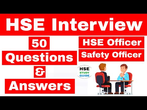 HSE Officer Interview Questions And Answers / Safety Officer Interview Questions For Fresher