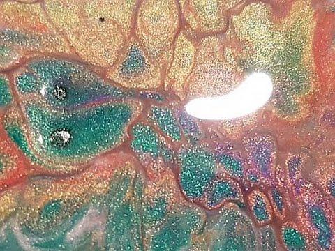 Fluid Metallic Painting ' Snakeskin Pie '  Free Your Mind Art