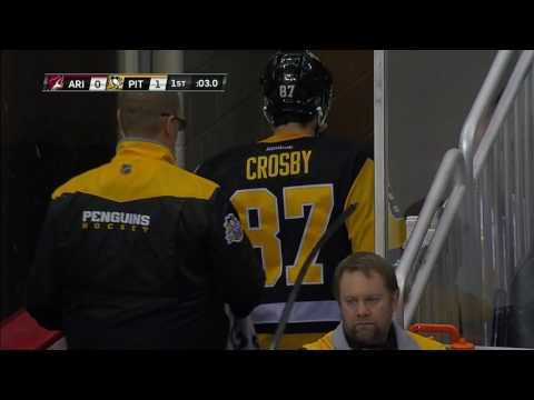Thumbnail: Crosby injured after his face collides with Hanzal's stick