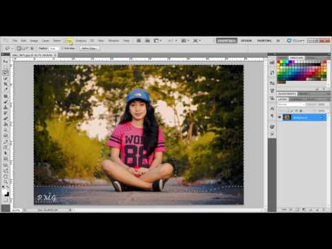 How to Blur Background in Photoshop CS5 /The Fastest and Easy Way