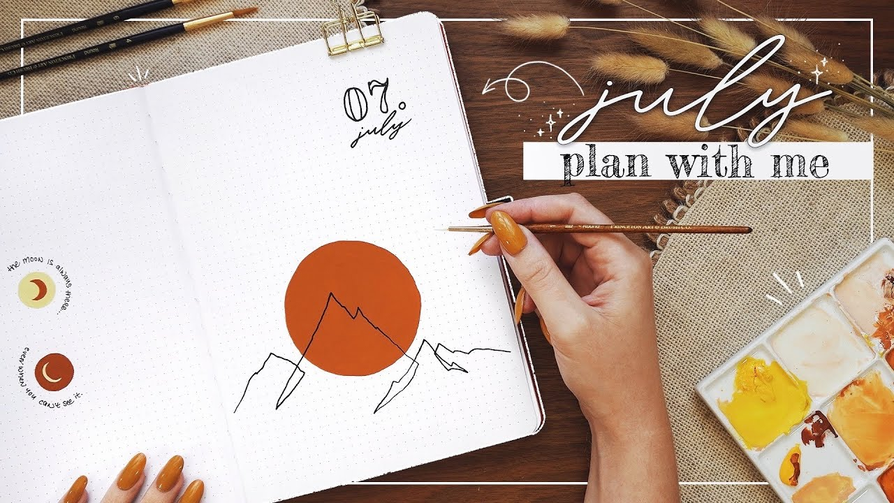 July 2021 Bullet Journal Plan With Me  |  Simple BuJo Set Up
