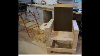 Кресло из дерева, в мастерскую. Для себя любимого))) Своими руками.