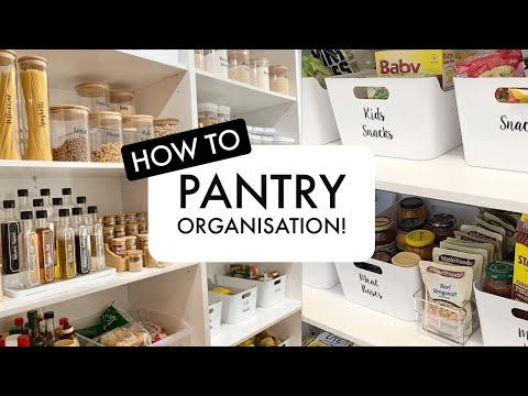 How To Organise Your Pantry!/ PANTRY TOUR/ PLUS Small Pantry Storage Tips!