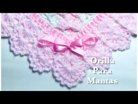 Orilla | border | puntilla para mantas | cobijitas en gancho | a crochet | en ganchillo #133