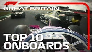 Dazzling Overtakes, Big Collisions And The Top 10 Onboards | 2019 British Grand Prix