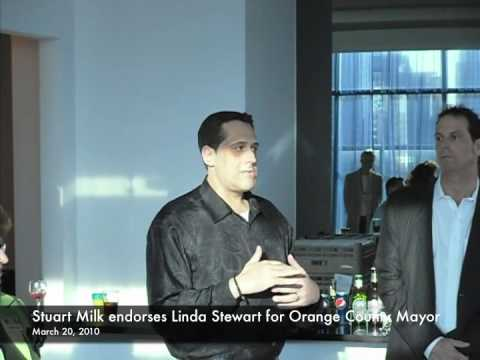 Stuart Milk Endorses Linda Stewart for Mayor