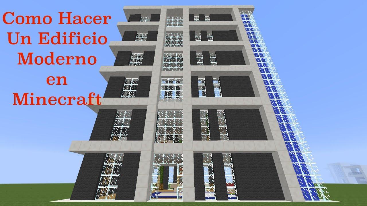 como hacer un edificio moderno en minecraft pt1 youtube