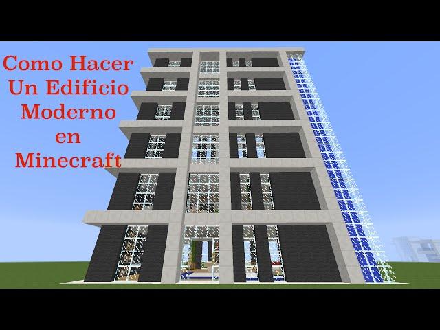 Como hacer un edificio moderno en minecraft pt1 for Minecraft moderno