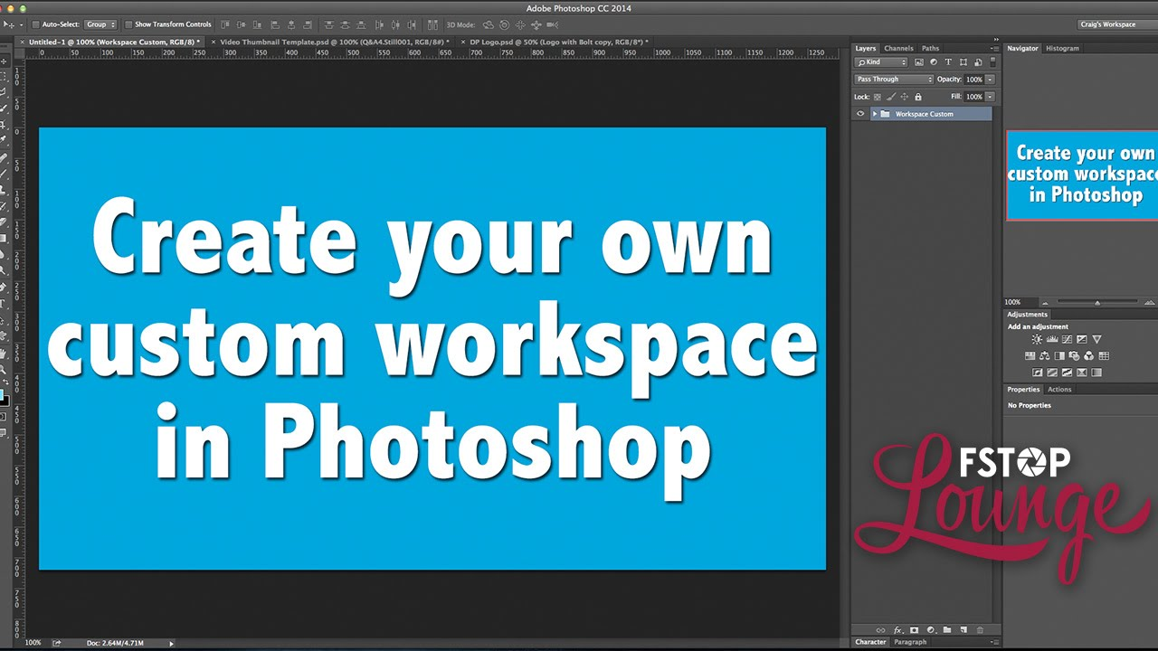 how to create workspace on mac