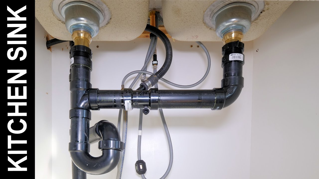 how to connect a kitchen sink drain