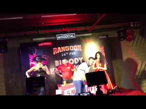 Kangana Ranaut promoting Rangoon at Anti-Social, Colaba.