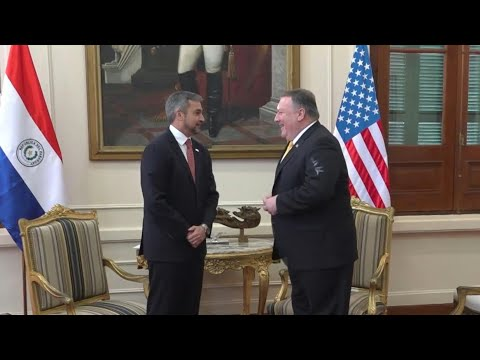 Pompeo aborda en Paraguay la crisis de Venezuela