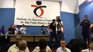 Sindicato de bancários da CUT dá golpe em assembleia para enterrar a greve