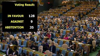 Video 128 UN member states call for USA to withdraw Jerusalem move download MP3, 3GP, MP4, WEBM, AVI, FLV September 2018