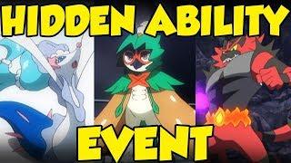 HIDDEN ABILITY ALOLA STARTER POKEMON EVENT! Hidden Ability Incineroar, Decidueye, & Primarina!