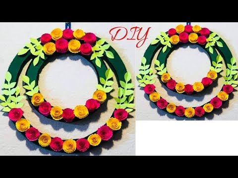 DIY|Wall decoration ideas with Papers| Paper Crafts | Paper Wall Hanging | CrazeeCrafts