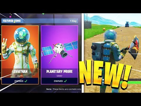 Fortnite Leviathan SKIN + Planetary Probe GAMEPLAY! TRY IT FIRST! (Fortnite NEW SKINS)