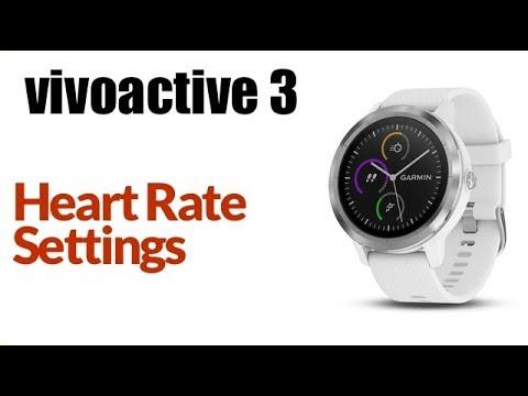 Garmin Vivoactive 3 - How To Adjust Heart Rate Monitor Settings