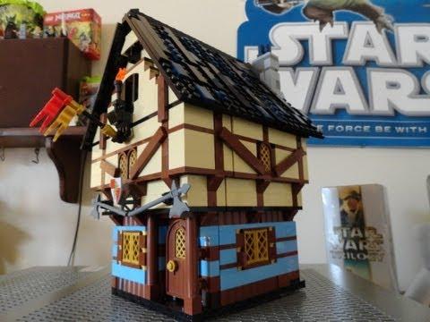 Lego Medieval House lego medieval landscape part 1 - youtube