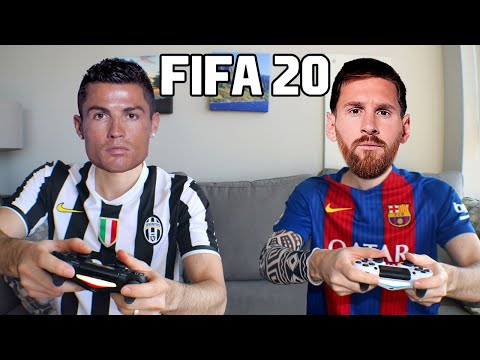 CRISTIANO RONALDO PLAYS FIFA 20 WITH LIONEL MESSI indir
