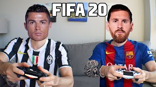 CRISTIANO RONALDO PLAYS FIFA 20 WITH LIONEL MESSI