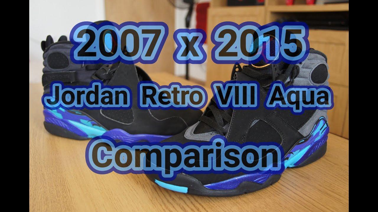 605ec6f133f4 2007 x 2015 Jordan Retro VIII (8) Aqua