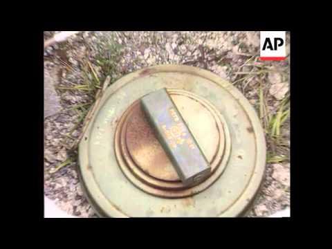 Bosnia - Anti-Tank Mines Detonated