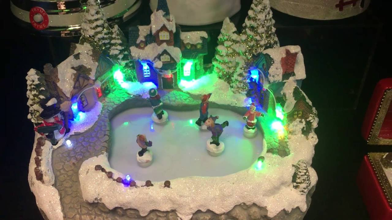 Animated Ice Skating Christmas Decoration