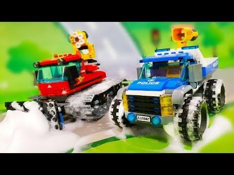 Машинки застряли в снегу. Мультик про ТАЧКИ – Петрович догоняет Воришку. Видео для детей с игрушками