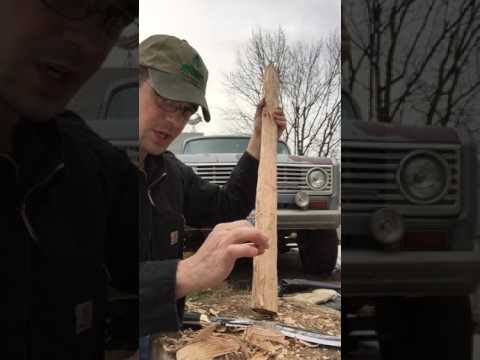 Whittling with a Khukuri part 1