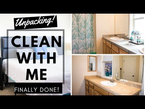 CLEAN, ORGANIZE, AND UNPACK WITH ME | FINALLY DONE UNPACKING NEW HOUSE