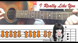"""I Really Like You"" - Carly Rae Jepsen Guitar Tutorial (Easy Lesson)"